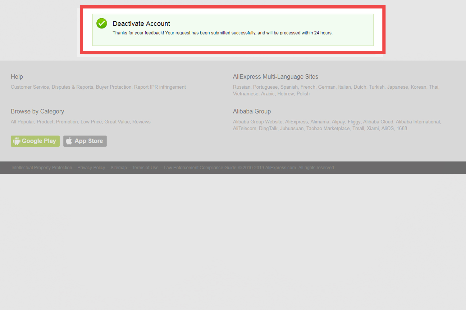 How To Delete Your AliExpress Account