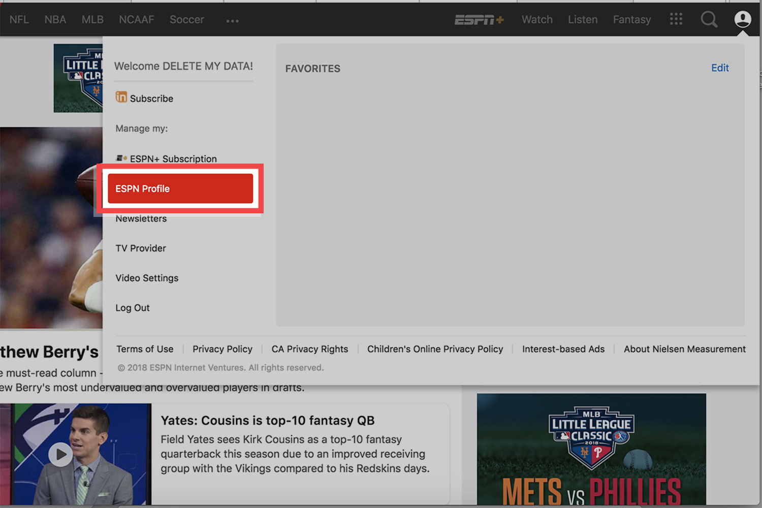 How To Delete Your Espn Account