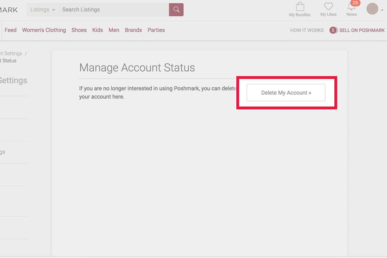 How To Delete Your Poshmark Account