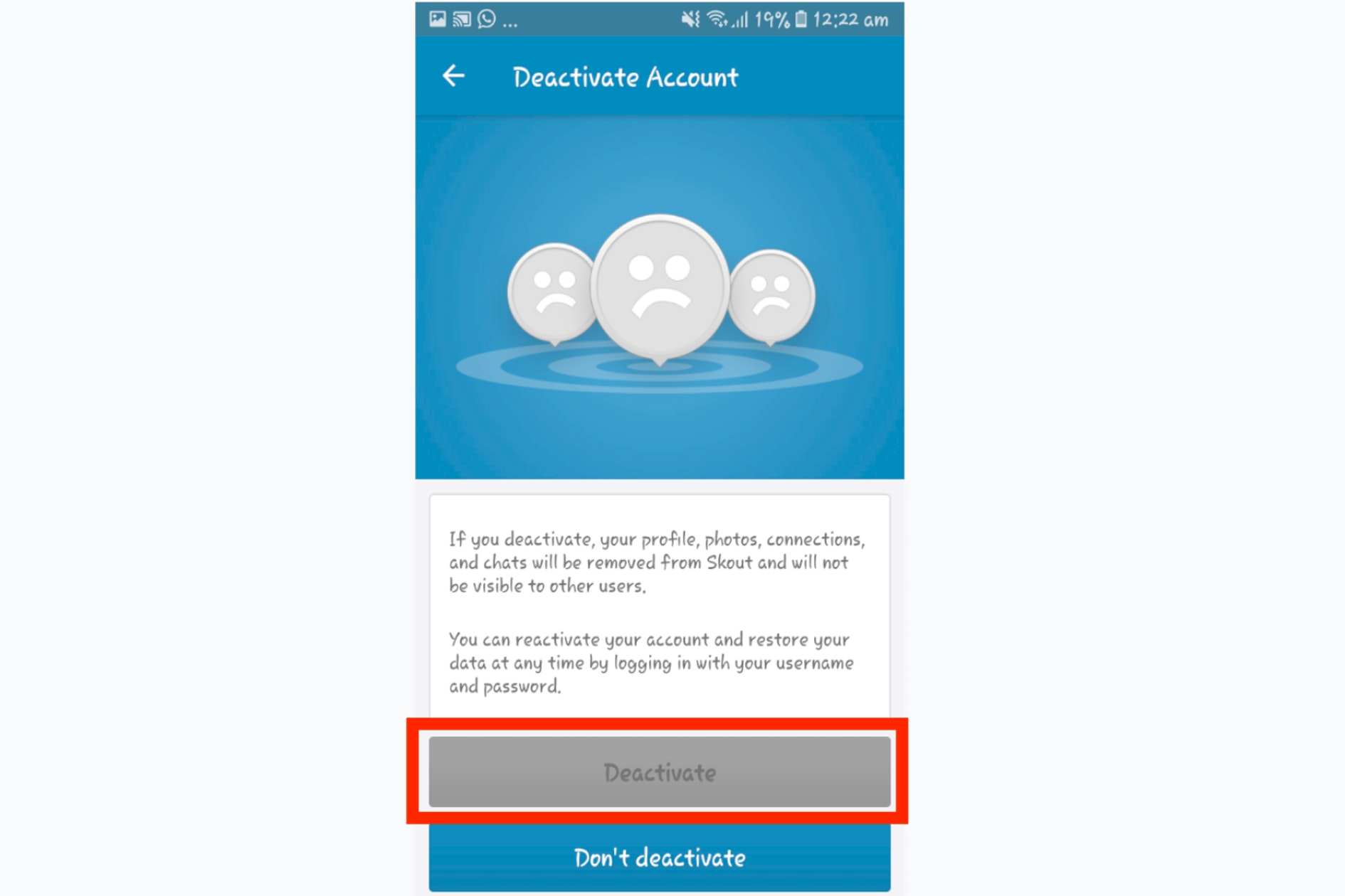 How To Delete Your Skout Account
